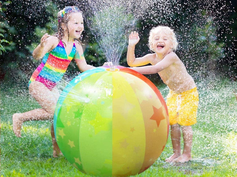 Ynredee, palla gonfiabile per bambini che spruzza acqua, per attività all'aria aperta, ideale per feste in piscina in estate e per far divertire i bambini