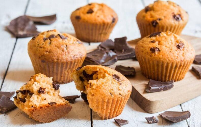 Ricetta Muffin Con Gocce Cioccolato