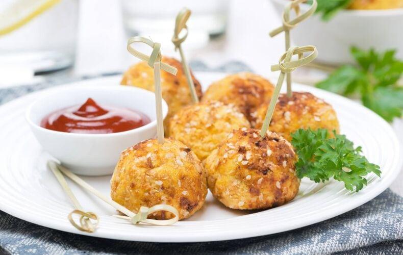 Crocchette-di-Patate-e-Prosciutto-su-Stecco
