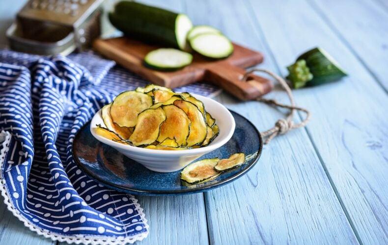 Ricetta Chips Di Zucchine
