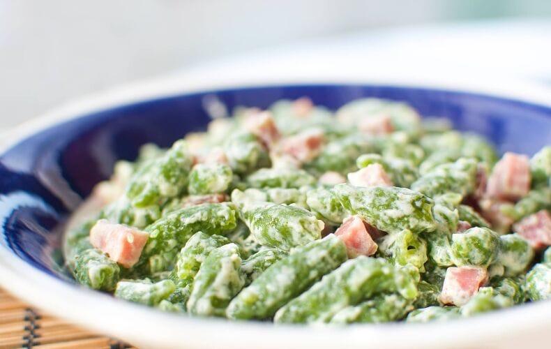 Spatzle-agli-Spinaci-con-Panna-e-Speck