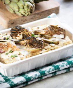 Lasagne-ai-Carciofi-con-Pancetta-e-Taleggio