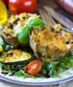 carciofi-ripieni-alla-salsiccia