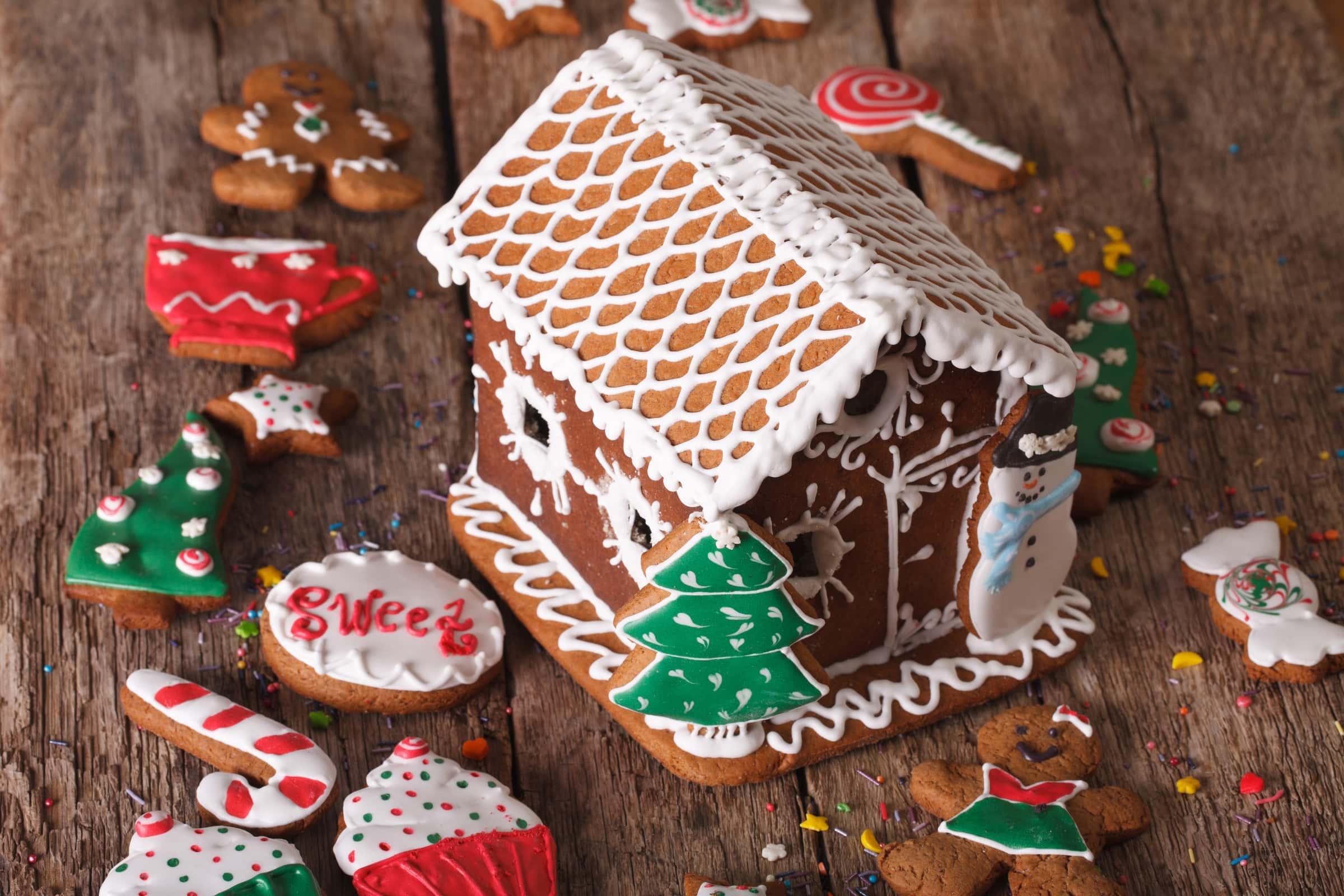 Casetta Di Natale Con Biscotti : Casetta di pan di zenzero gingerbread house