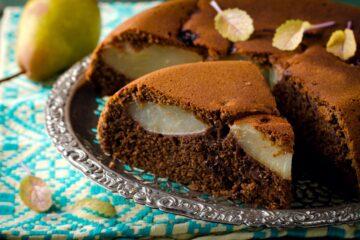 torta-pere-cioccolato-amaretti