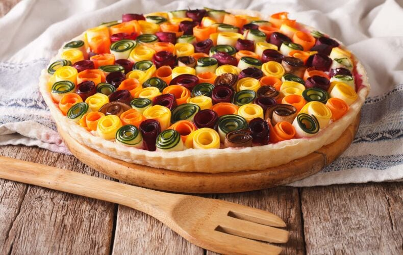 torta-di-rose-salata-con-verdure