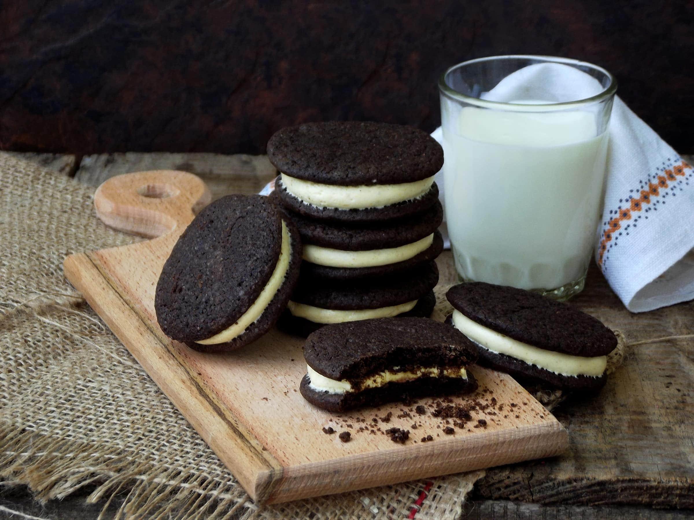 Ricetta Biscotti al Cioccolato e Crema