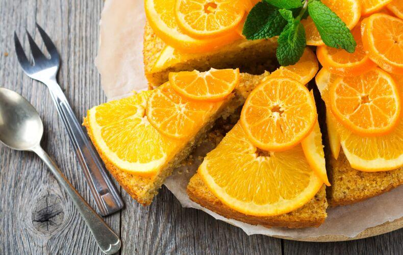 torta di polenta all'arancia