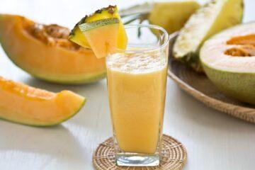 frullato di melone e ananas