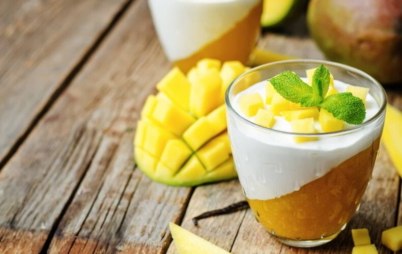 panna cotta al mango