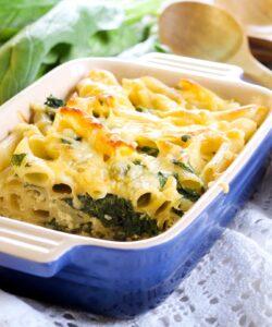 pasta al forno con gli spinaci