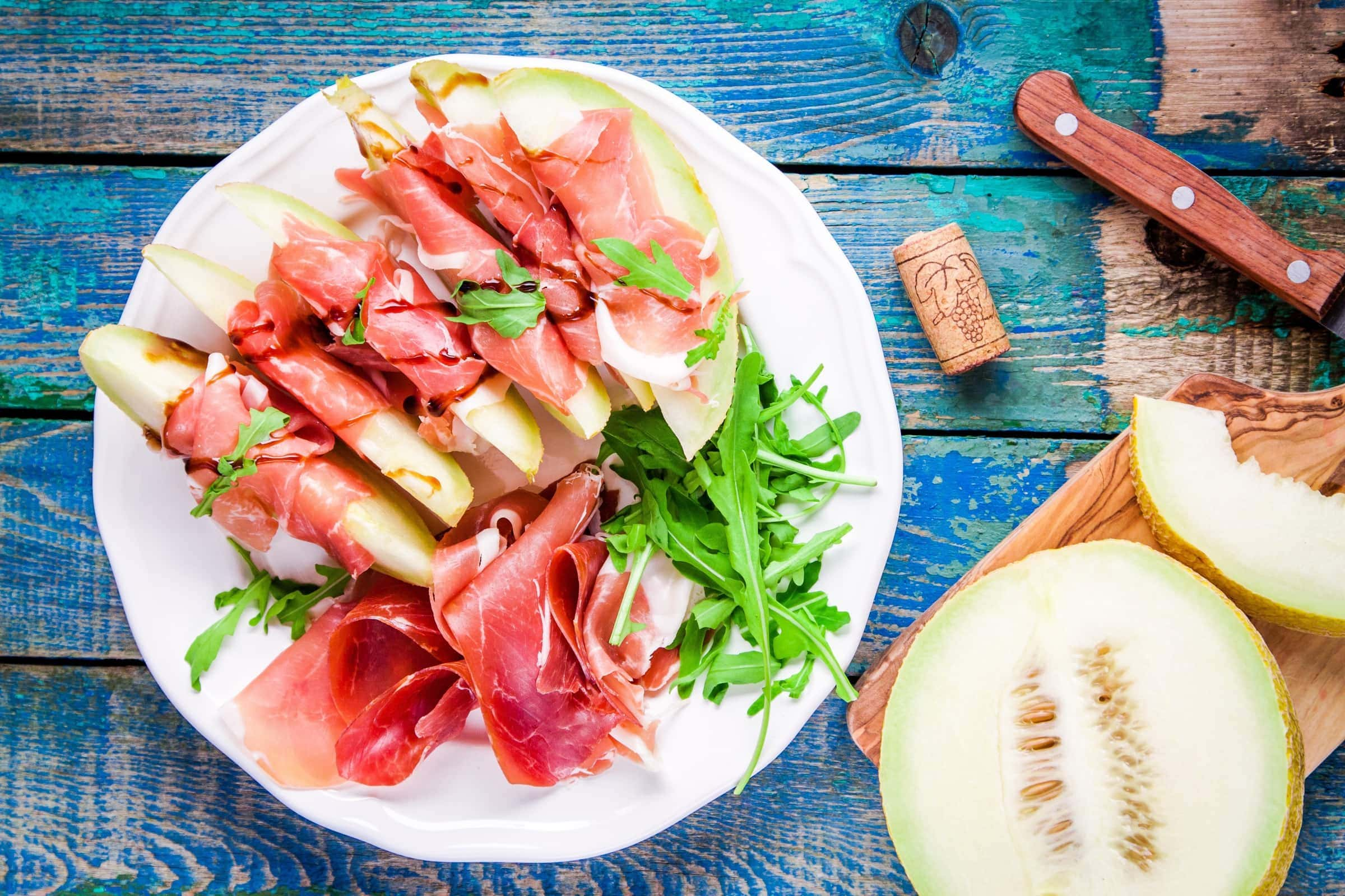 Ricetta Prosciutto e Melone con Rucola e Aceto Balsamico