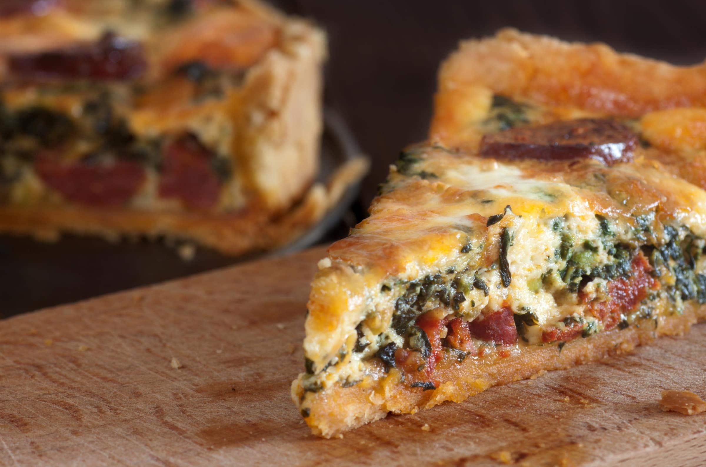 Ricetta Torta Salata Salsiccia e Spinaci