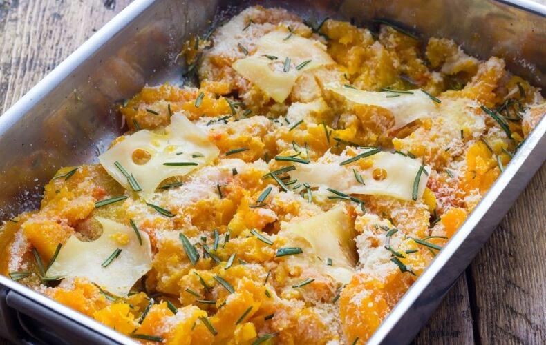 Ricetta Zucca Al Forno Con Formaggio Filante
