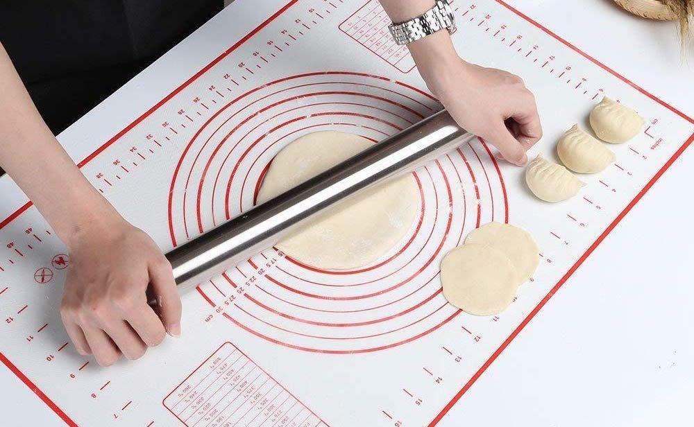 GWHOLE Tappetino da Forno in Silicone (60x40cm), Extra Grande Stuoia di Rolling Della Pasticceria del Silicone