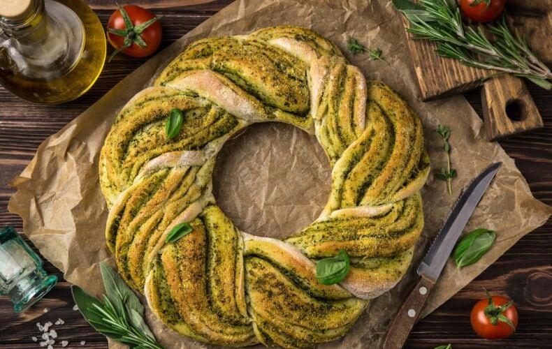 Ricetta Corona Di Pane Con Il Pesto