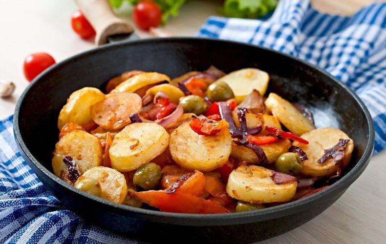 Ricetta Patate Apparecchiate Alla Siciliana In Padella