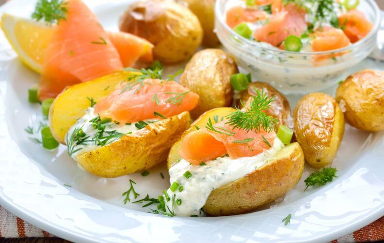 Ricetta Patate Ripiene Al Salmone