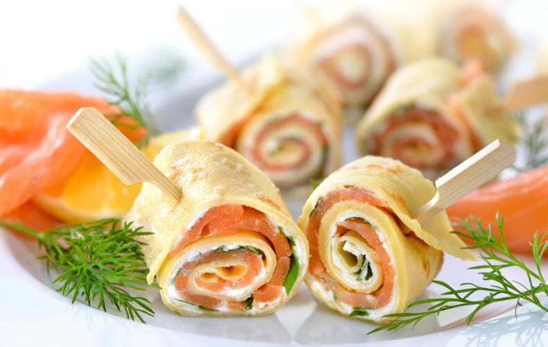 Ricetta Rotolini Di Crepes Con Philadelphia E Salmone
