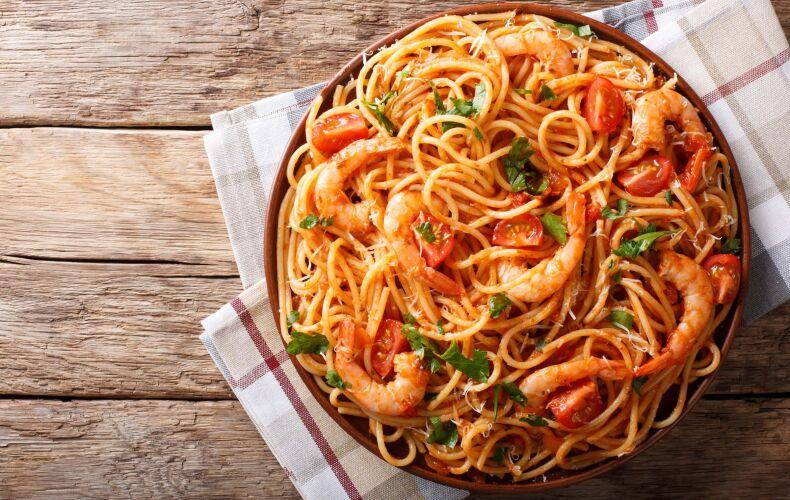 Ricetta Spaghetti Piccanti Con I Gamberi