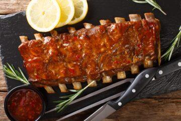 Ricetta Costine Di Maiale Alla Griglia In Salsa Barbecue Bbq Ribs