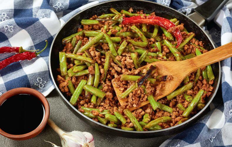 Ricetta Fagiolini In Umido Con Carne Macinata Peperoncino