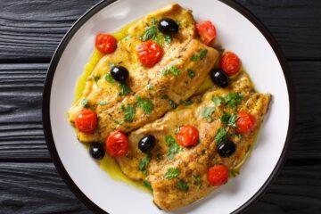 Ricetta Filetti Di Trota Salmonata Con Pomodorini E Olive