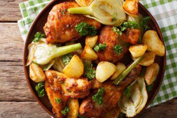 Ricetta Pollo Al Forno Con Patate E Finocchi