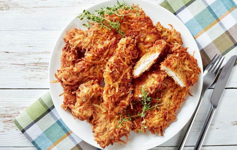 Ricetta Pollo In Panatura Di Patate