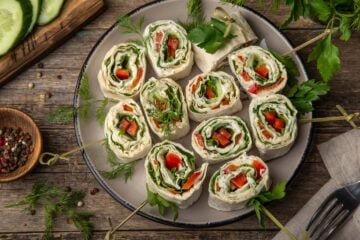 Ricetta Rotolini Di Piadina Vegetariani