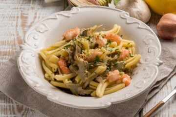 Ricetta Casarecce Con Carciofi E Gamberi
