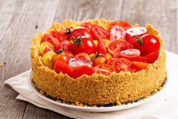 Ricetta Cheesecake Salata Ai Pomodorini