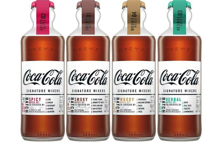 Coca Cola Mixer Bottiglia