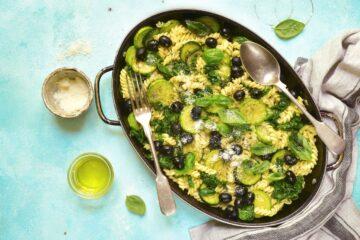 Ricetta Fusilli Con Zucchine E Olive