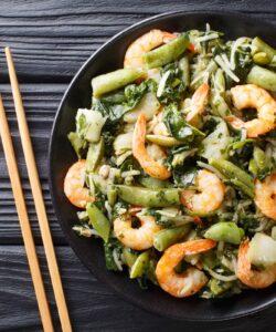 Ricetta Gamberetti In Padella Con Pak Choi E Fagiolini