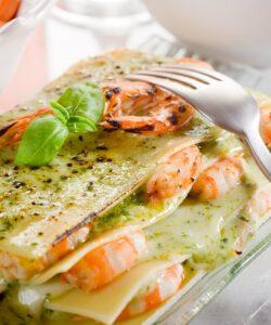 Ricetta Lasagne Con Pesto E Gamberetti