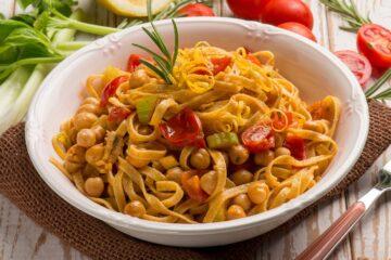 Ricetta Linguine Con Ceci E Pomodorini