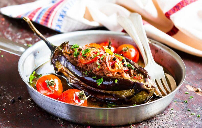 Ricetta Melanzane Ripiene Con Carne E Pomodorini