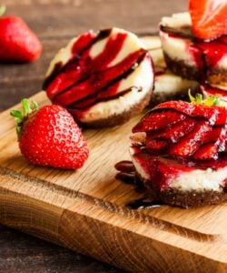 Ricetta Mini Cheesecake Cioccolato E Fragole