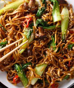 Ricetta Noodles Con Pak Choi E Funghi Shiitake