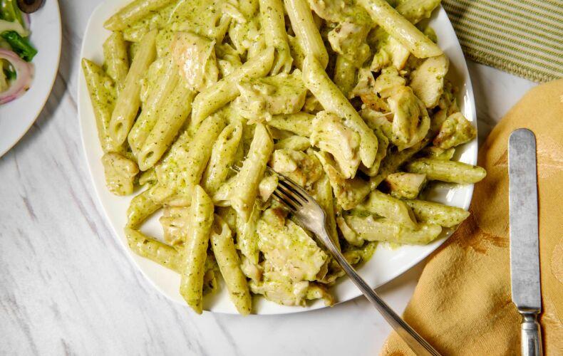 Ricetta Penne Al Pesto Cremoso E Broccoli