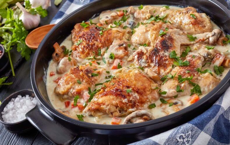Ricetta Pollo In Fricassea