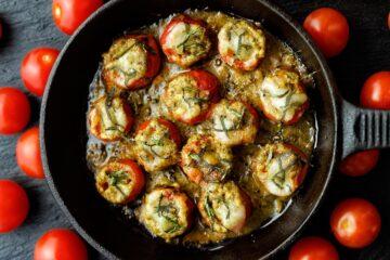 Ricetta Pomodori Ripieni In Padella