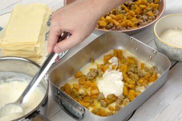 Ricetta Preparazione Lasagne Zucca E Salsiccia 9