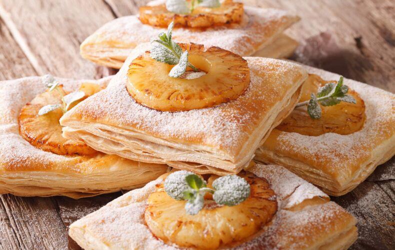 Ricetta Sfogliatine Dolci Ananas Caramellato
