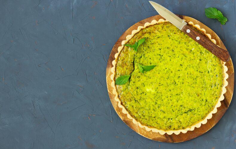 Ricetta Torta Salata Con Piselli E Robiola