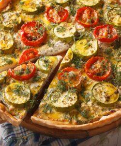 Ricetta Torta Salata Con Zucchine E Pomodorini