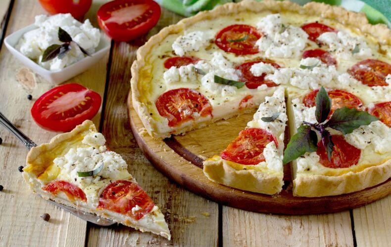 Ricetta Torta Salata Pomodori E Caprino