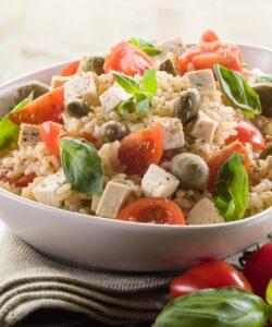 Ricetta Insalata Di Riso Vegan Con Tofu E Olive