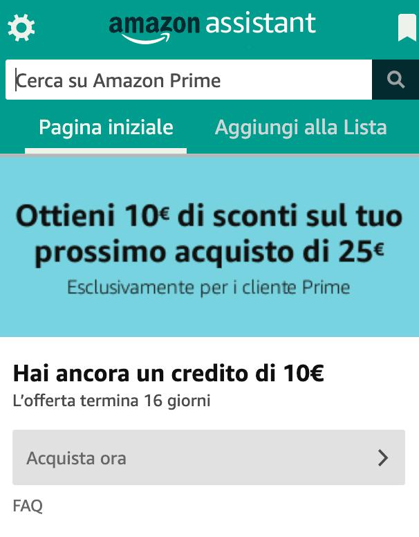 Amazon Assistant Sconto